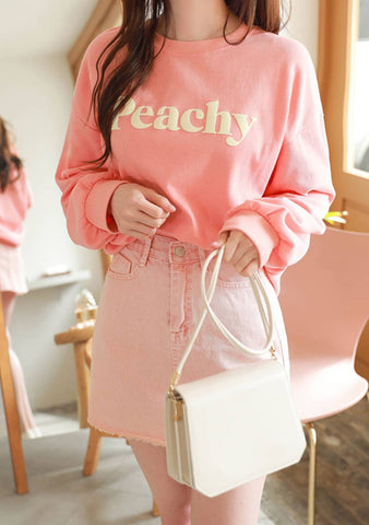 My Love For Peaches Lettering Sweatshirt