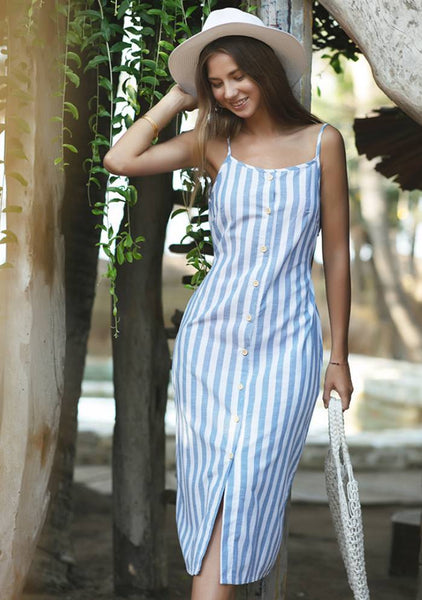 Botton Stripe Dress