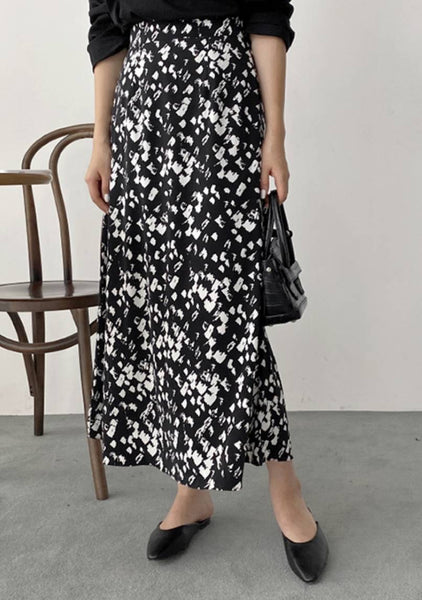 Layered In Love Flowers Print Skirt