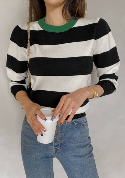 What Is Right Stripes Knit Top