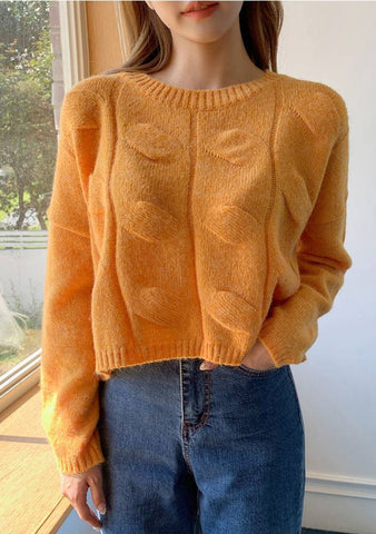 Sweet Pumpkin Knit Sweater