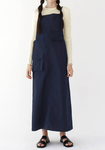 Valentine Sleeveless Dress [Navy]