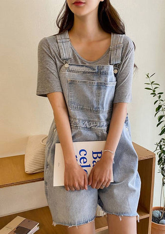 Mathilda Short Denim Overall