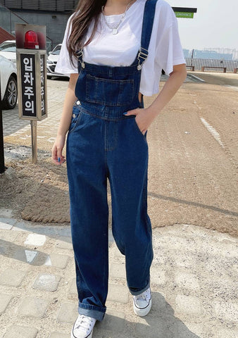 She Is The Hero Denim Overalls