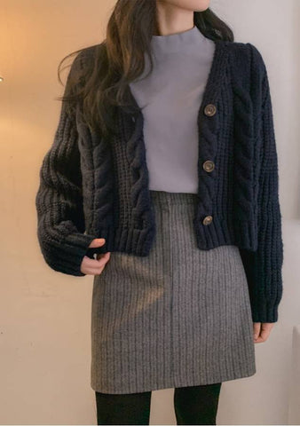 Unlimited Cable Knit Cardigan