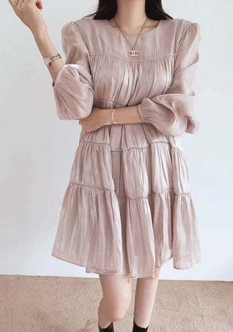 Welcome To My Romantic World Pleated Dress