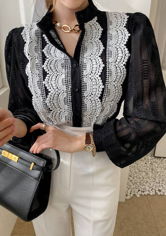 That Is The Point Lace Hem Blouse