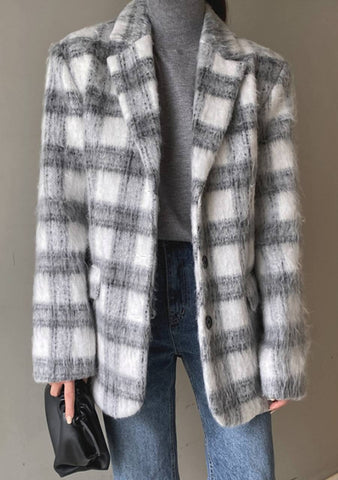 Be My Place Check Wool Jacket
