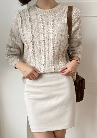 Time Management Ruffle Knit Sweater