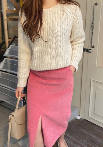 Simple Disciplines Ribbed Knit Sweater