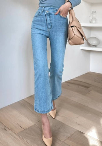 On What Shines High-Waist Denim Jeans