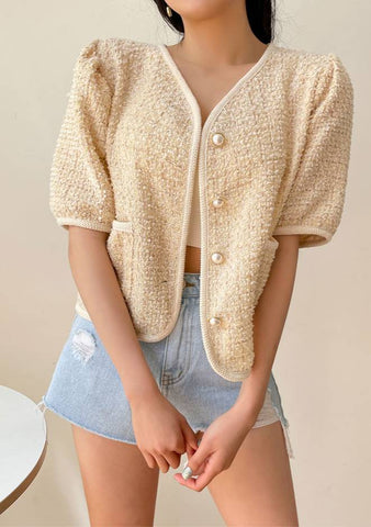 Lovely Me Tweed Cardigan