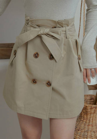 Romantic Mood Trench Look Skirt