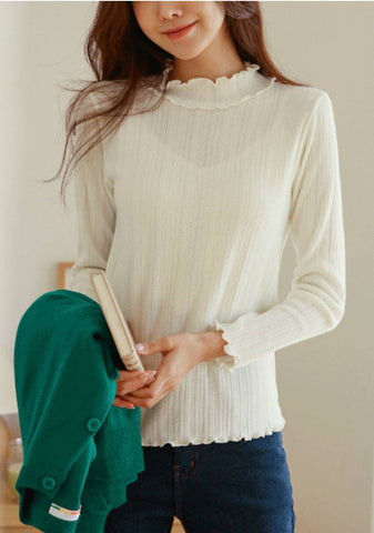 Completely And Perfectly Happy Frill Neck Top