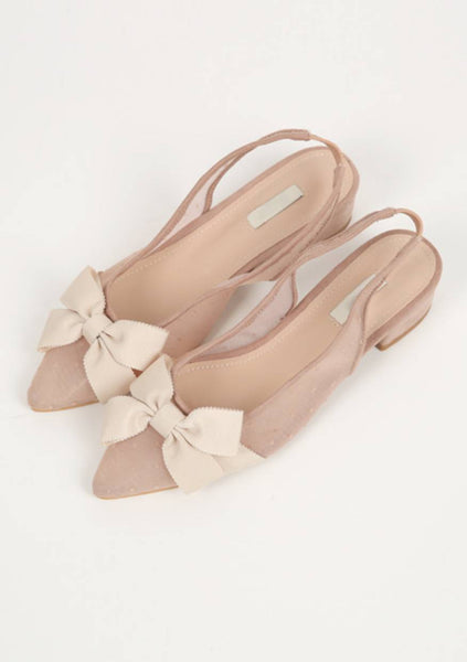Ride With Me Ribbon Slingback Heels