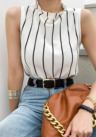 Friendship Is Serious Stripes Knit Top