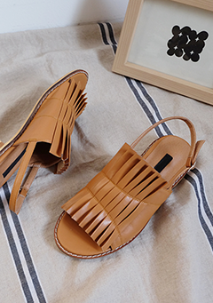 Leatherette Tassel Sandals