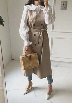 Polished Design Trench Dress