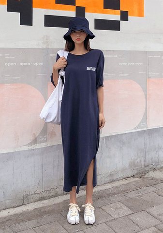 Santiago Button Line Long Dress