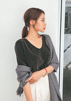 Light Of Thousand Stars Mid Sleeves Top