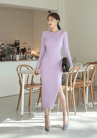 Marie Antoinette Ribbed Knit Dress