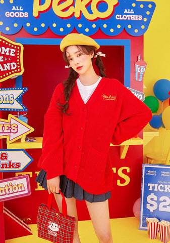 Peko Land Candy Machine Cardigan