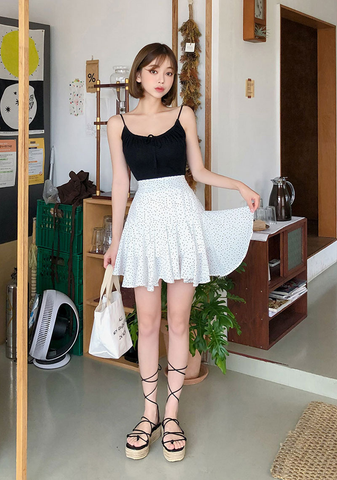 Small Dots Ruffle Skirt