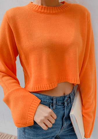 Strong Minds Crop Knit Sweater