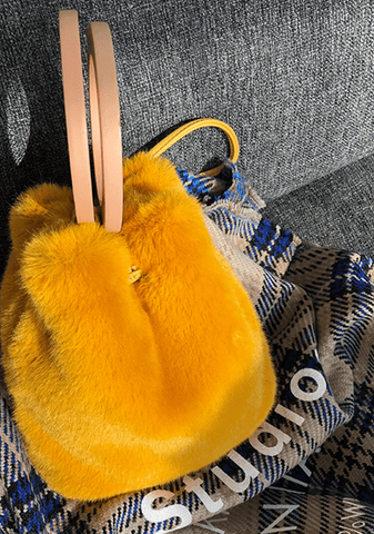 Lost Stars Faux-Fur Bucket Bag