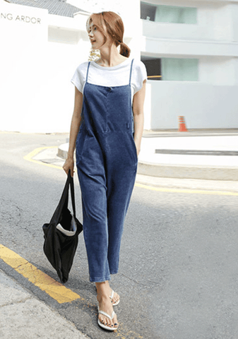 Can Not Blame You For Trying Denim Jumpsuit