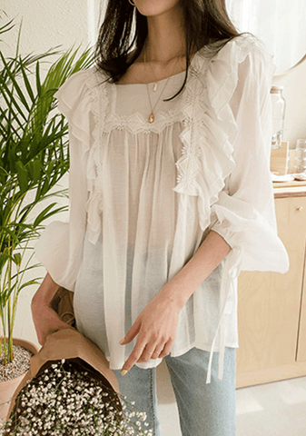 Young And Beautiful Mesh Blouse