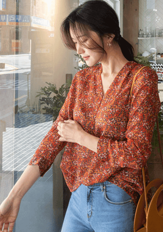 Girls Wanna Have Sun Flower Blouse