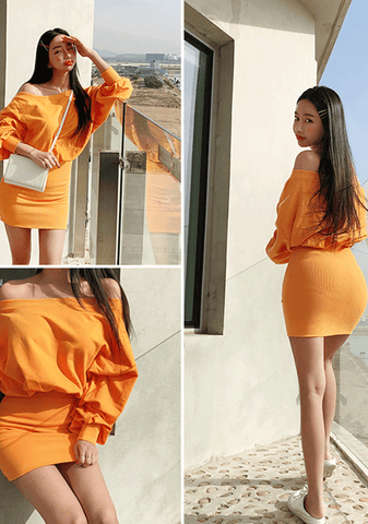 You Gain Strength Off-Shoulder Dress
