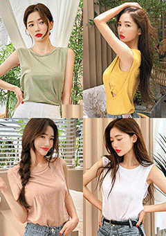 Basic Double Sleeveless Top