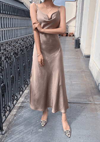 Gelato Glam Satin Dress