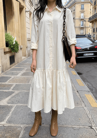 Margaret Long Shirt Dress
