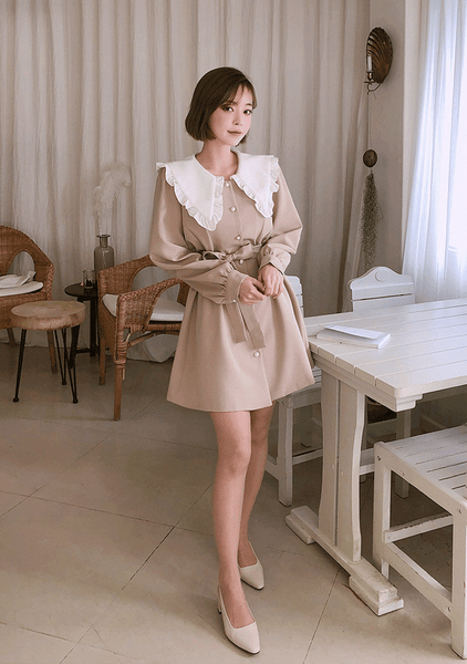 d734c2603ae CHUU Be A Lovely Barbie Frill Dress – Something  Sweet Taiwan