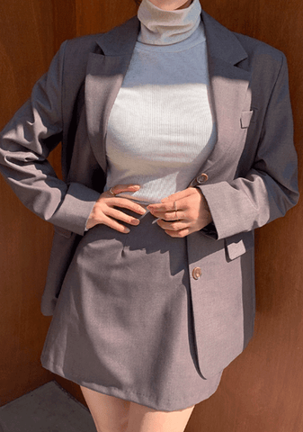 My Modern Look Blazer+Skirt Set