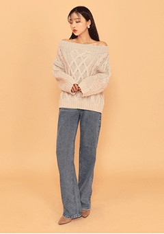 Momo Off Shoulder Knit