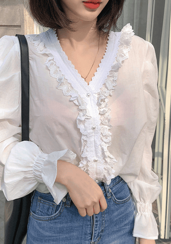 Call Me By Your Name Frill Blouse