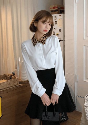 Friday Night Leo Collar Blouse