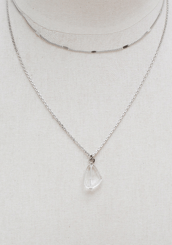 Clean Double Crystal Necklace