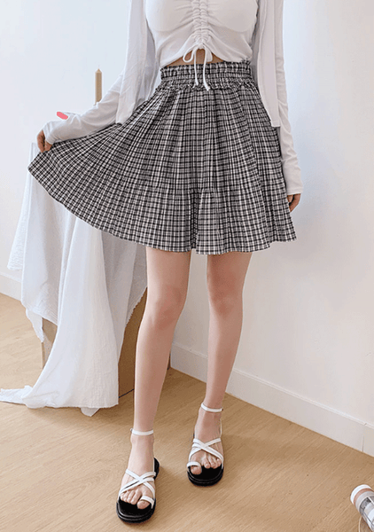 Cutie The Pooh Check Skirt