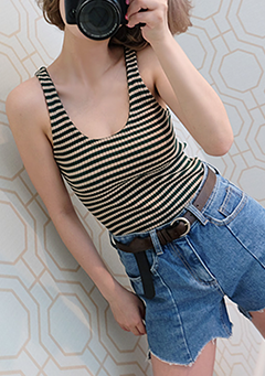 Stripe Night Tank Top