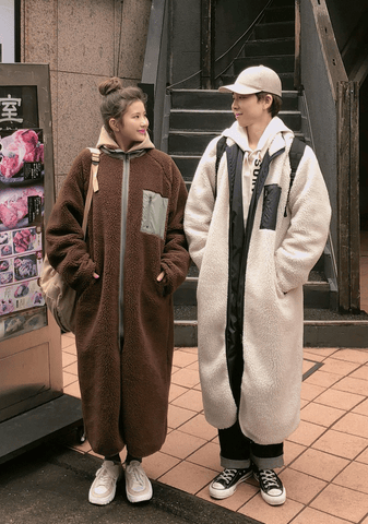 Reversible Shearling Long Coat