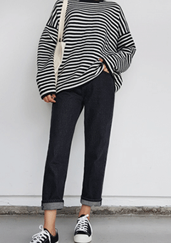 Little Bit Dangerous Stripes Knit Sweater
