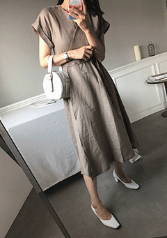 V Neck Wrapped Midi Dress