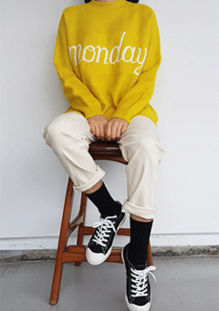 Monday Morning Knit Sweatshirt