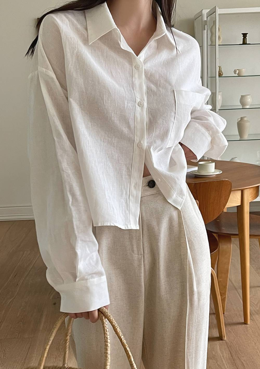 The World Say It Is Possible Linen Blouse