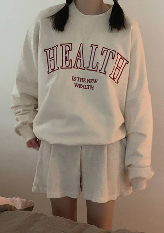 Health And Time Embroidered Sweatshirt